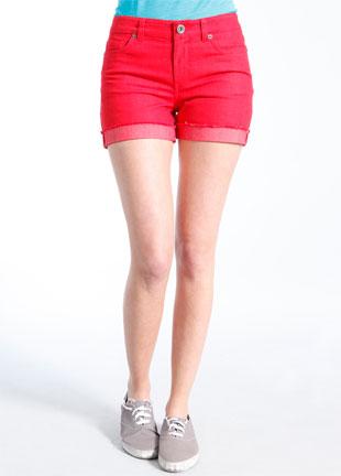 Pop! Denim Short in red, was $58, now $44.99