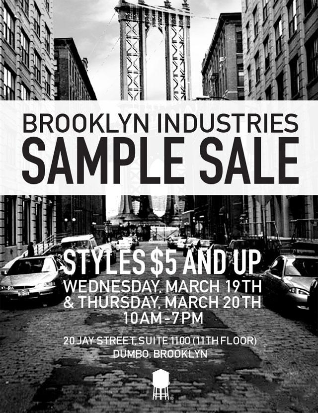 Brooklyn Industries Sample Sale
