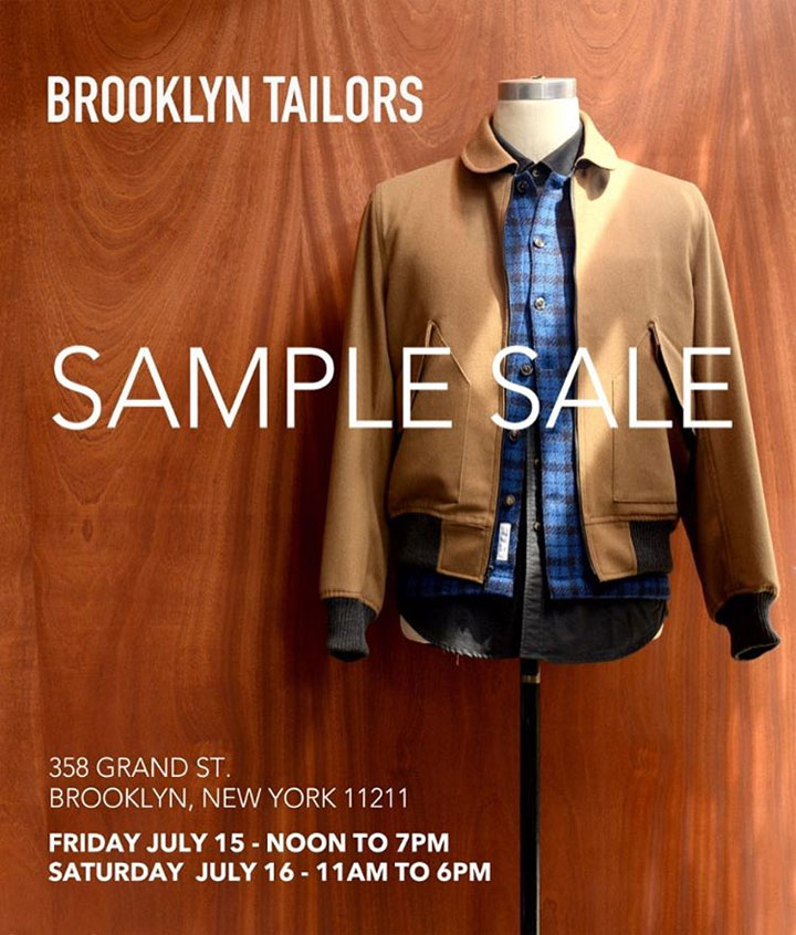 Brooklyn Tailors Sample Sale