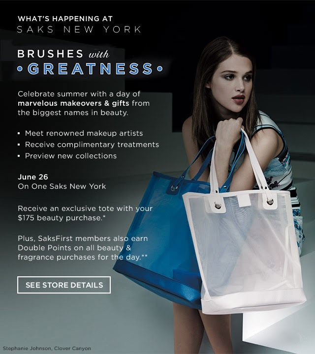 Brushes With Greatness at Saks Fifth Avenue