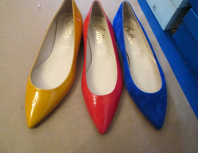 Sample shoes: $60, Stock shoes: $100