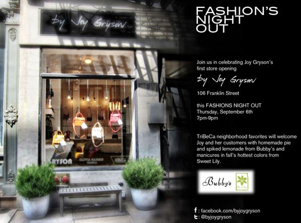 Joy Gryson Fashion's Night Out Event and Opening Part
