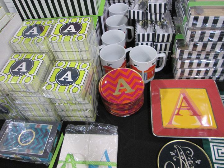 Monogrammed goods in many varieties