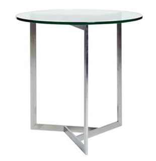 Calvin Klein Steel Side Table with Glass Top: $599 (orig. $1200)