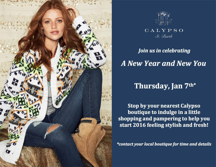 Calypso St Barth New Year New You Event