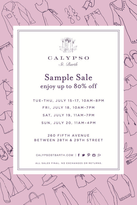 Calypso St. Barth Sample Sale