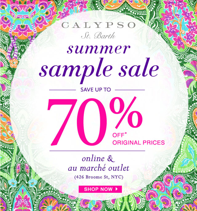 Calypso St. Barth Online Summer Sample Sale