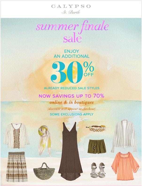 Calypso St. Barth Summer Final Sale