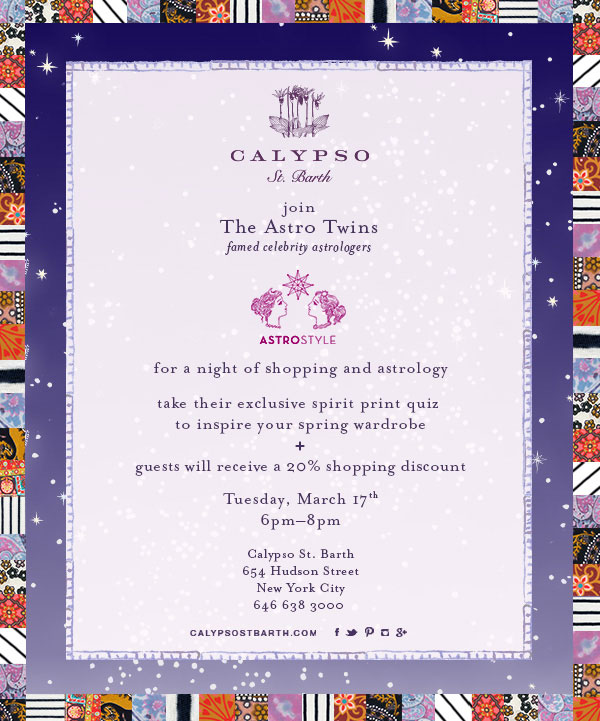 Calypso St. Barth + The Astro Twins Shopping Event