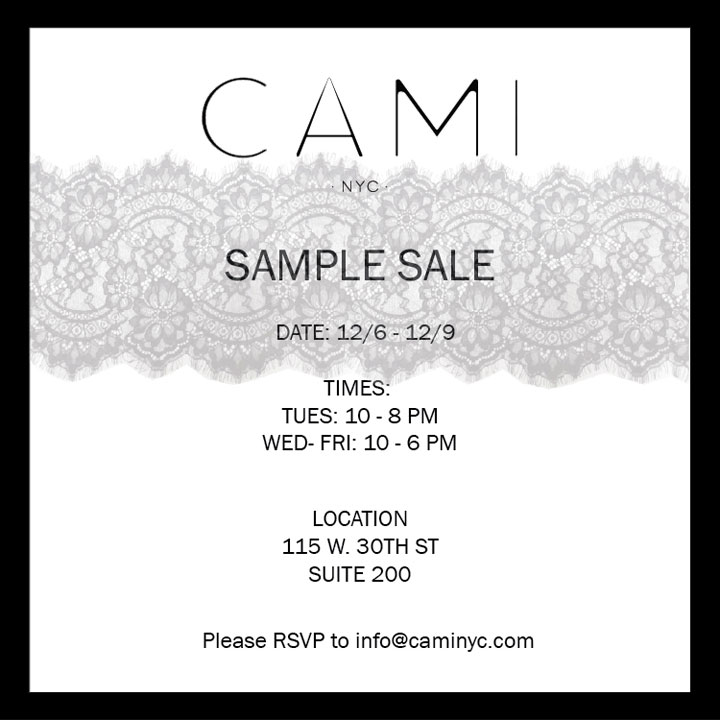 Cami NYC Sample Sale