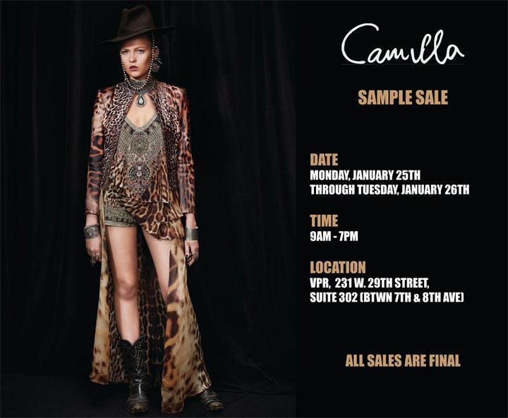 Camilla Fall 2016 Sample Sale