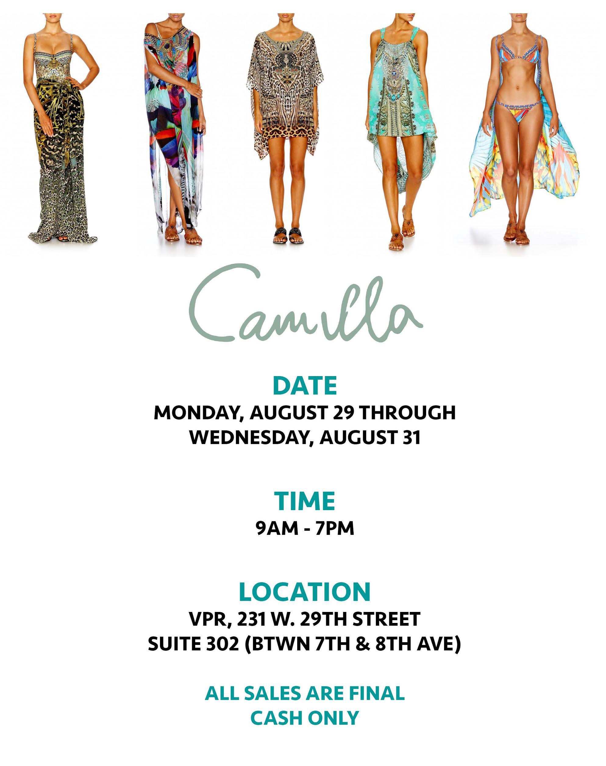 Camilla Sample Sale
