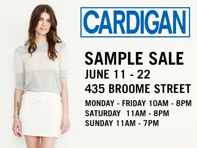 Cardigan Sample Sale