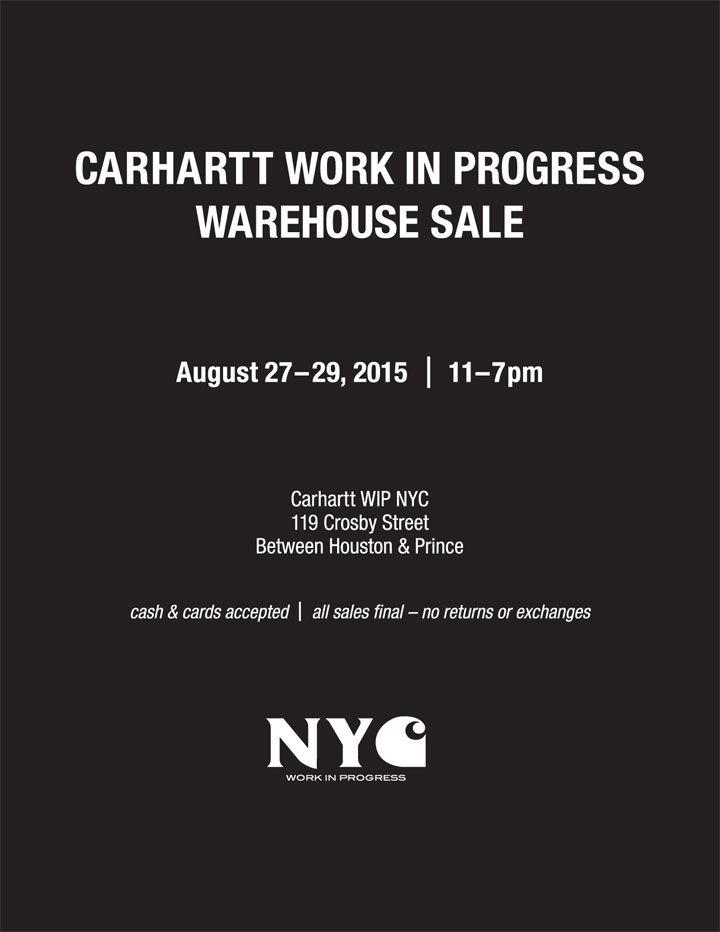 Carhartt WIP Warehouse Sale