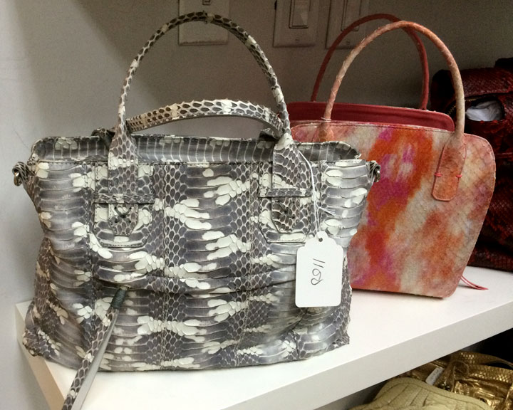 Python handbags for $1100