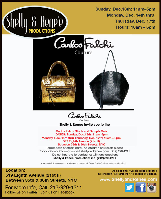 Carlos Falchi Stock & Sample Sale