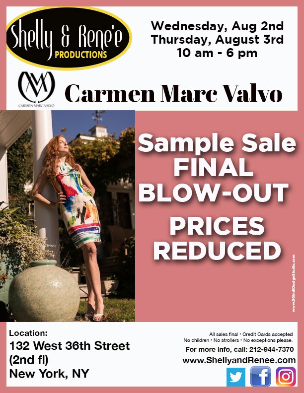 Carmen Marc Valvo Sample Sale