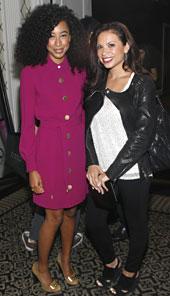 Carolina Bermudez and Corinne Bailey Rae Upstairs at the Allure Lounge