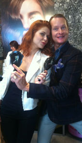 Carson Kreely Tangoed with Ricardo Rojas Tango Brushes at the Allure Lounge