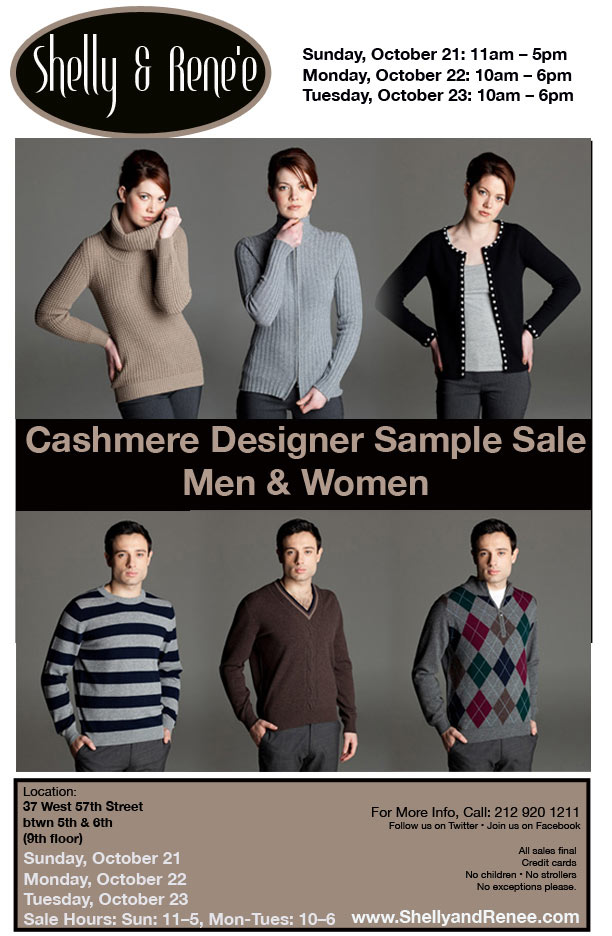 Cashmere Designer Sample Sale