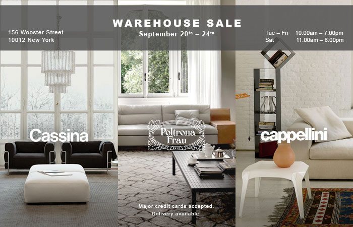 Cassina, Cappellini, & Poltrona Frau Warehouse Sale