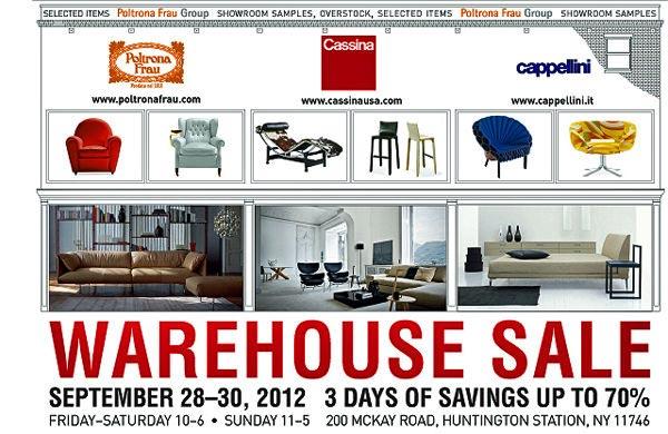 Cassina, Poltrona Frau, Cappellini Group Warehouse Sale
