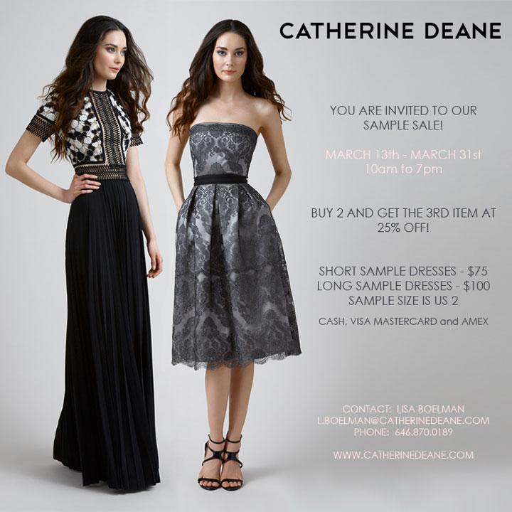 Sample Sale Wedding Dresses Nyc 63 Ideal Catherine Deane Sample Sale