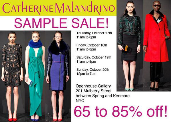 Catherine Malandrino Clothing New York Sample Sale ...