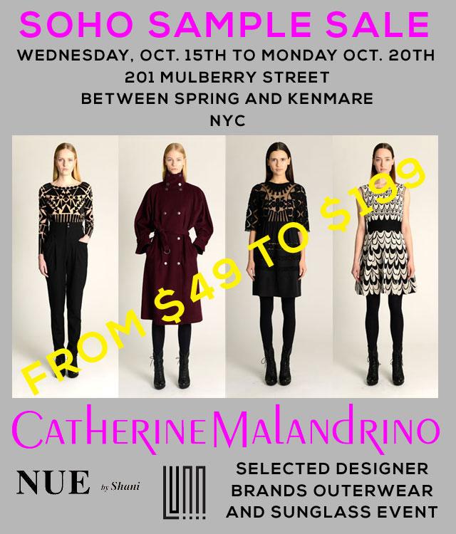 Catherine Malandrino Clothing New York SoHo Sample Sale ...