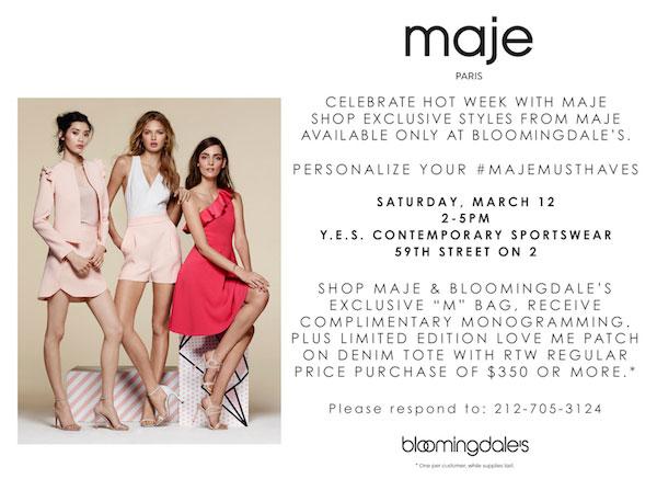 Celebrate Hot Week With Maje