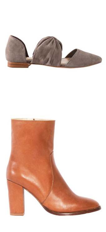 The Joan Flat: $100 (orig. $325), The Zanns Heel: $75 (orig.$385)