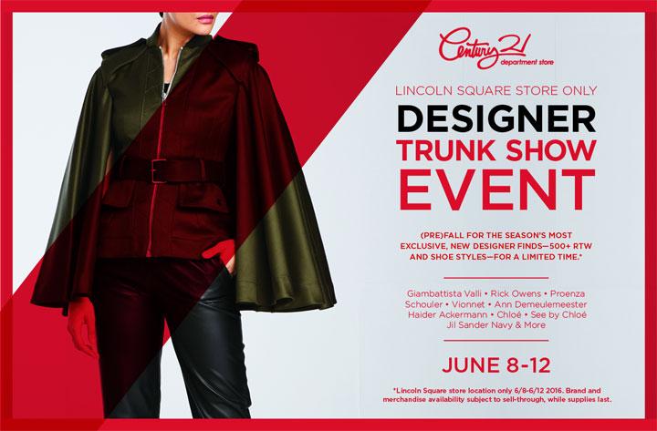 Century 21 Department Store Designer Trunk Show Event