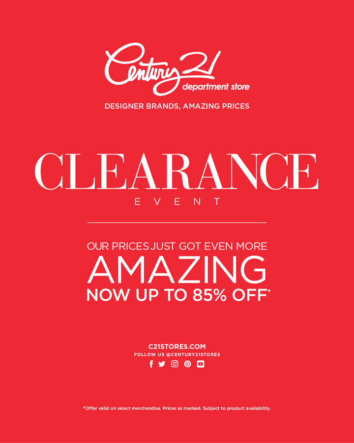 Century 21 Department Store Semi-Annual Clearance Sale