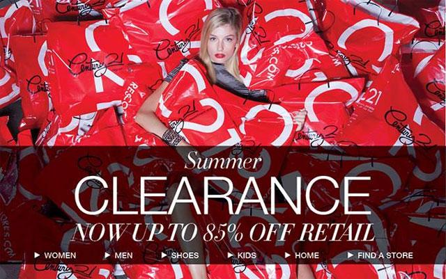 Century 21 Summer Clearance Sale
