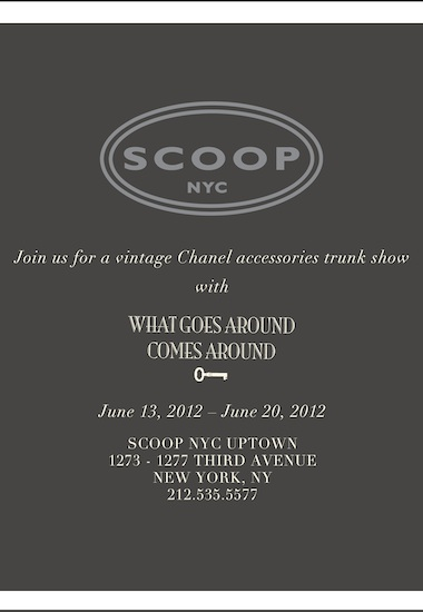 Vintage Chanel Trunk Show With What Goes Around Comes Around!