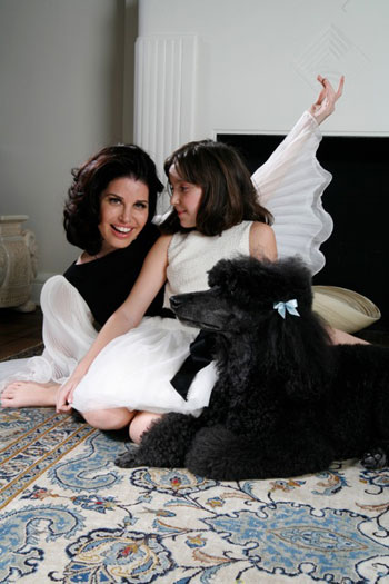 Charlie Girl is a real life dog whose owners are author Elizabeth and Elizabeth's 10-year-old daughter Ava
