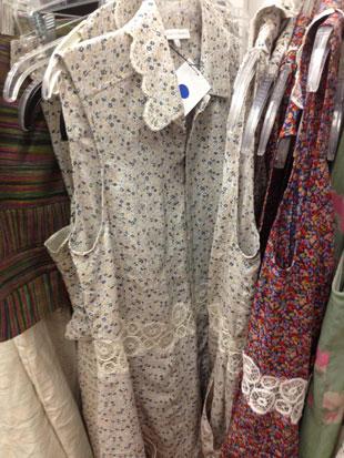 Charlotte Ronson Blue Floral Dress w/ Lace Trim ($80)