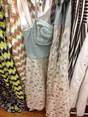Charlotte Ronson Denim and Polkadot Dress ($80)