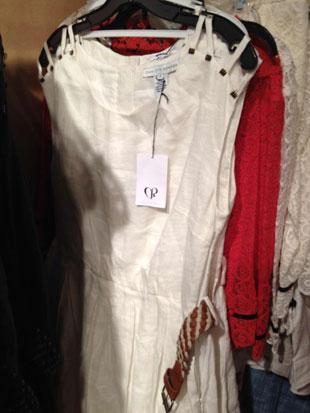 Charlotte Ronson Snow White Linen Dress w/ Brown Braided Belt ($60, orig. $235)