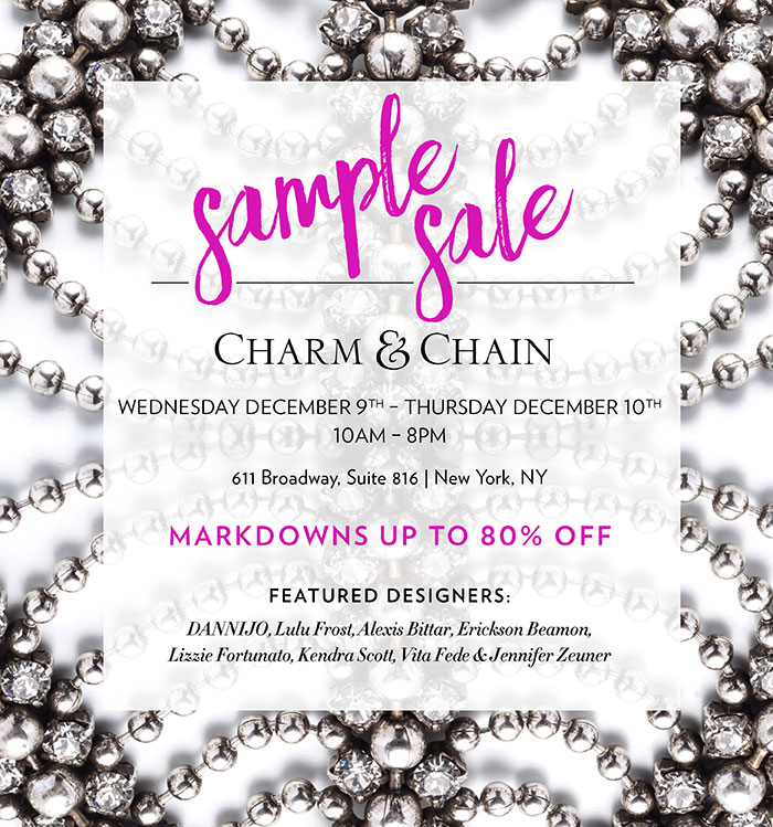 Charm & Chain Sample Sale