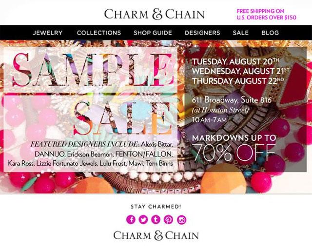 Charm & Chain Sample Sale