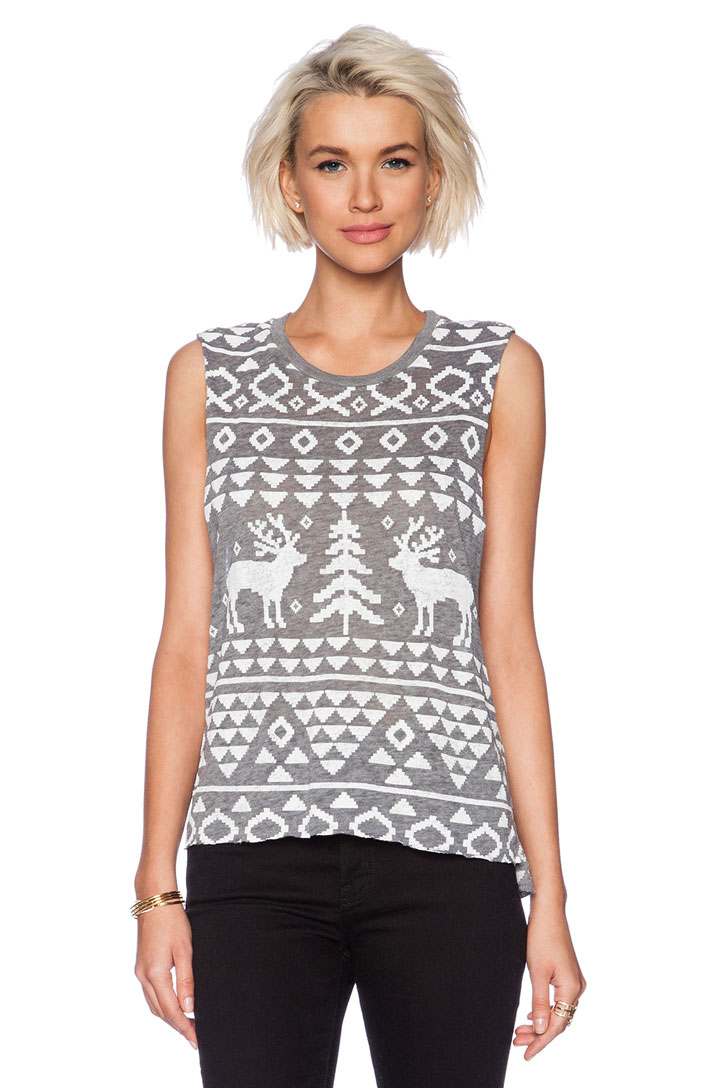 Chaser Ski Lodge Print Tank Top for $25