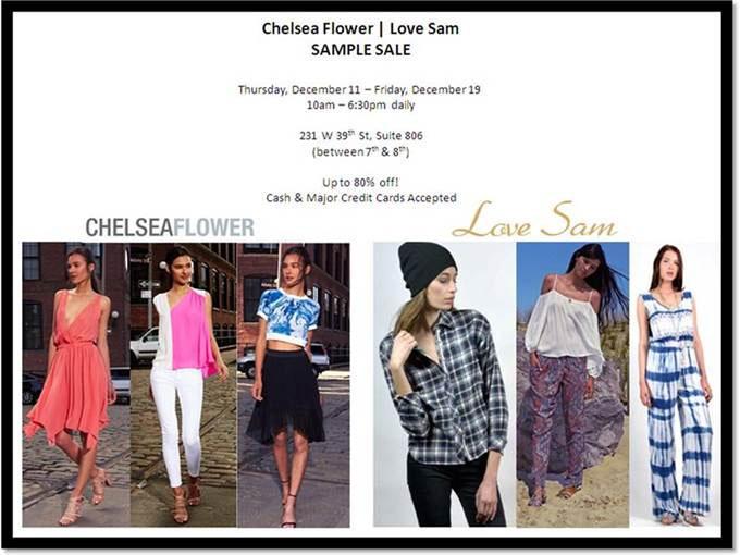 Chelsea Flower & Love Sam Sample Sale