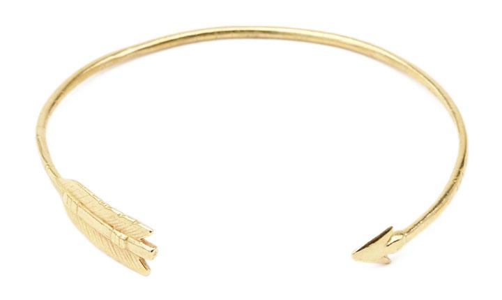 Chibi Jewels Brass Arrow Cuff Bracelet - Retail $46 , Sale price $20