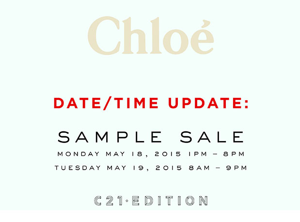 Chloe Clothing & Accessories New York Sample Sale - TheStylishCity.com