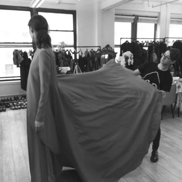 Christian Siriano NYFW behind the scenes