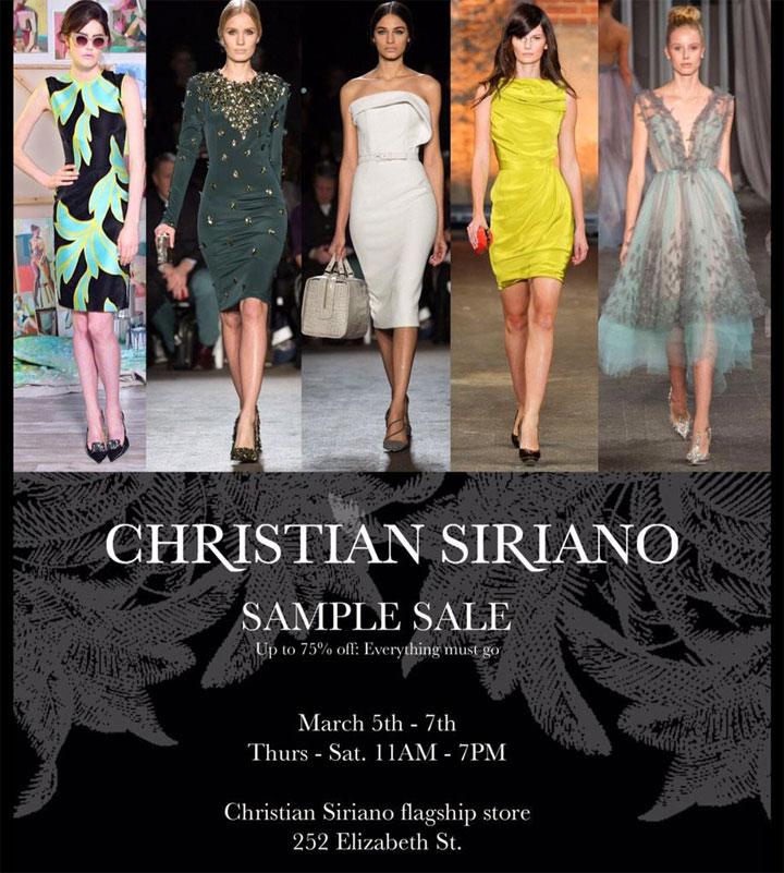 Christian Siriano Sample Sale