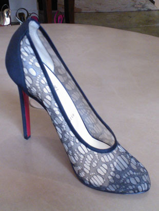 Christian Louboutin Lace Pump: originally $795, now $150