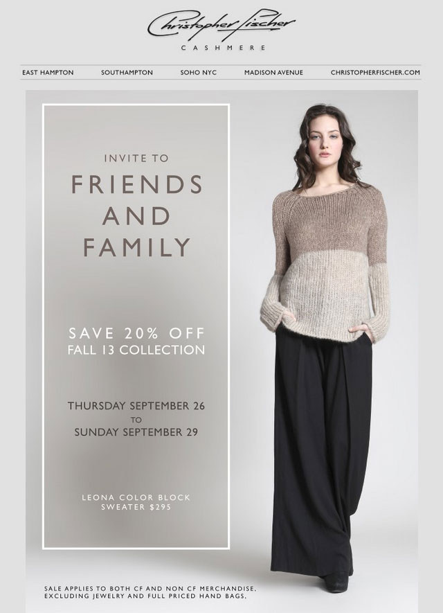 Christopher Fischer Friends & Family Sale