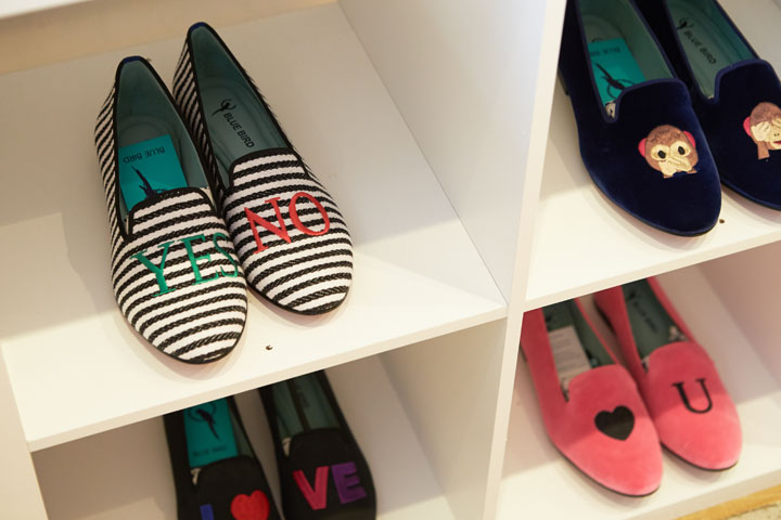Blue Bird Shoes, handcrafted loafers featuring eyecatching motifs and embroidery